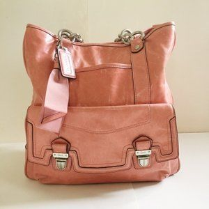 Leather Coach Poppy Push-lock Limited Edition